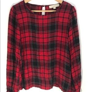 NWOT Ann Taylor plaid blouse